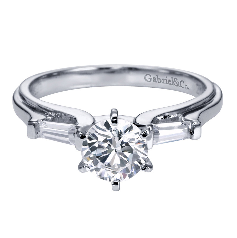 Gabriel 14 Karat Contemporary Engagement Ring ER3694PT3JJ