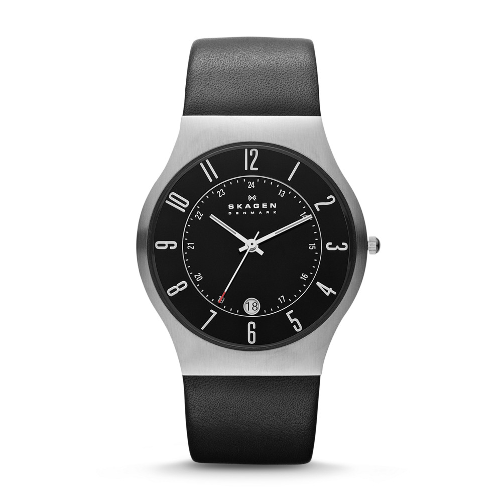 Skagen Watch - 233XXLSLB - Grenen Leather Alternative View 1