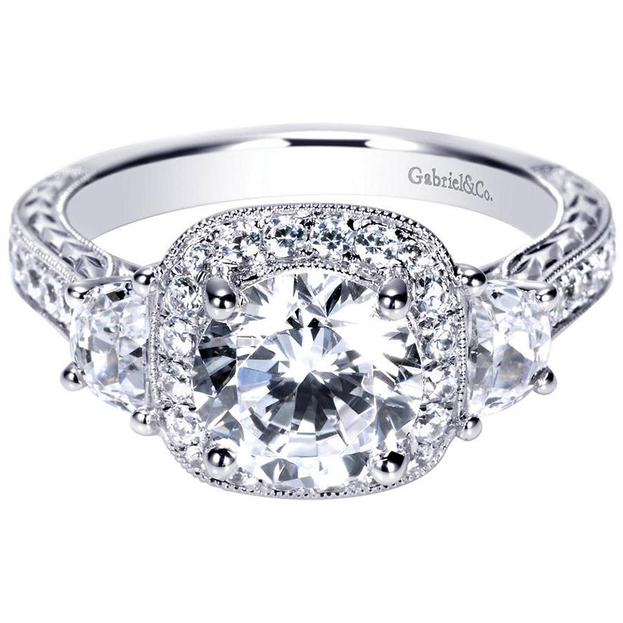 gabriel 14 karat victorian engagement ring er8918w44jj. Black Bedroom Furniture Sets. Home Design Ideas