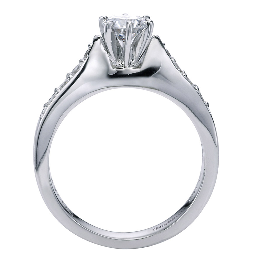 Gabriel 14 Karat Contemporary Engagement Ring ER1702PT3JJ Alternative View 1