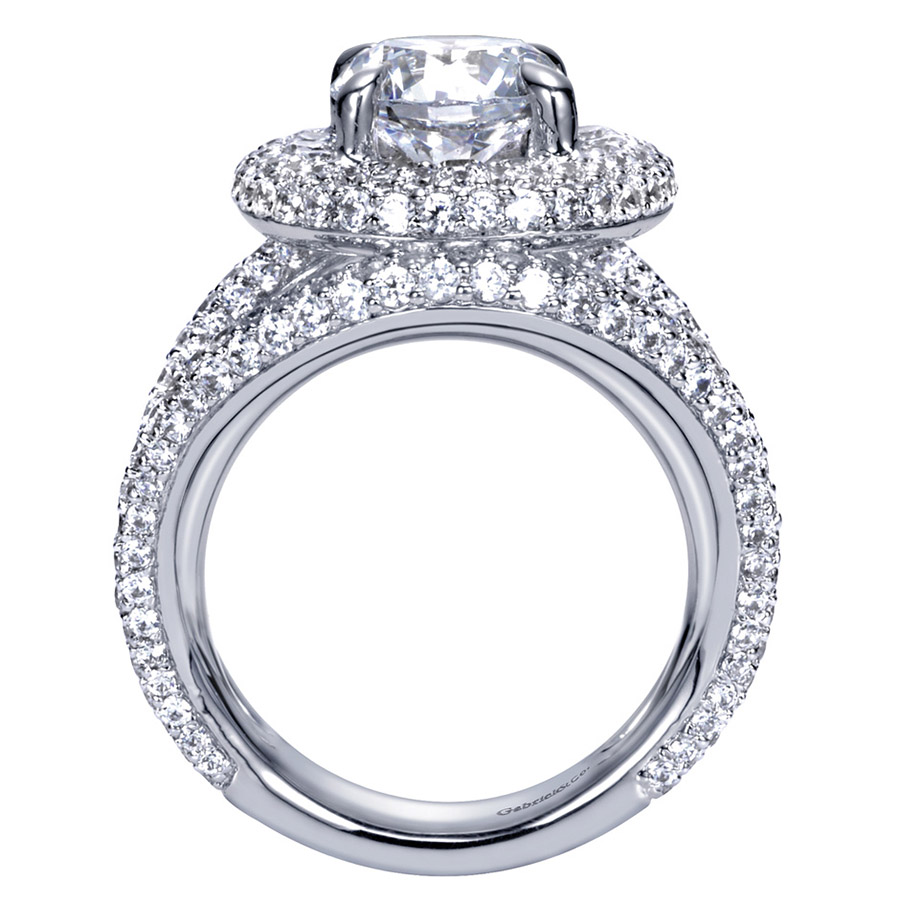 Gabriel 14 Karat Contemporary Engagement Ring ER8330W83JJ Alternative View 1