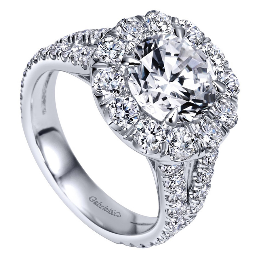 Gabriel 14 Karat Contemporary Engagement Ring ER8326W83JJ Alternative View 2