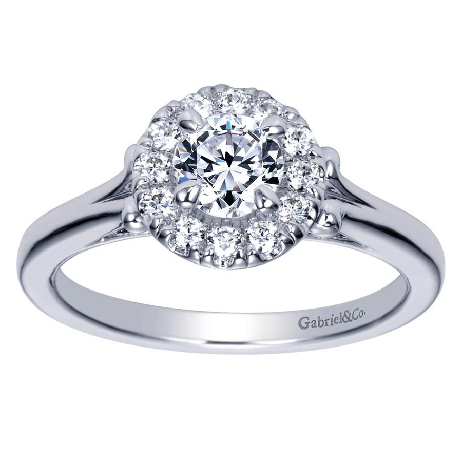 Gabriel 14 Karat Contemporary Engagement Ring ER98657W44JJ Alternative View 4