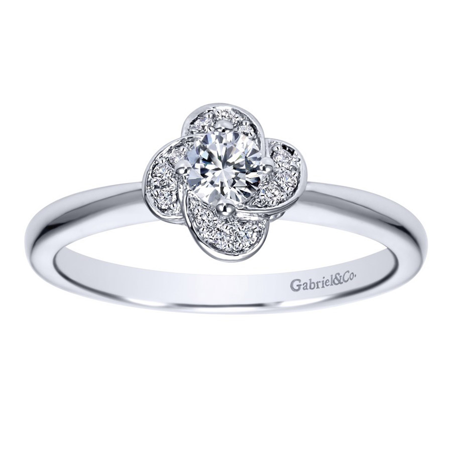 Gabriel 14 Karat Contemporary Engagement Ring ER97764W44JJ Alternative View 4