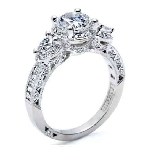 Tacori Crescent Platinum Engagement Ring HT2533SM12X Alternative View 1