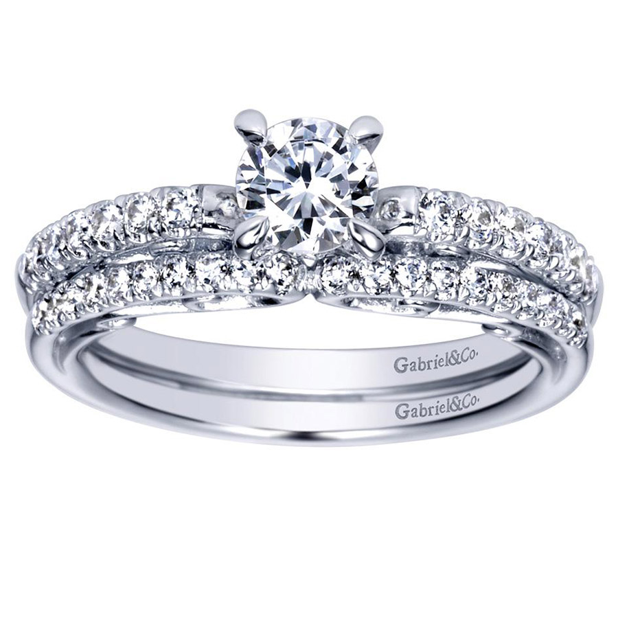 Gabriel 14 Karat Contemporary Engagement Ring ER98596W44JJ Alternative View 3