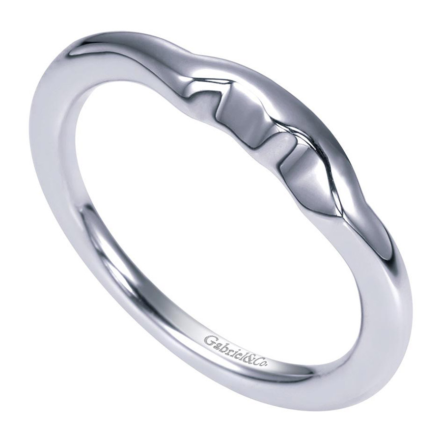 Gabriel Platinum Contemporary Wedding Band WB5993PTJJJ Alternative View 2
