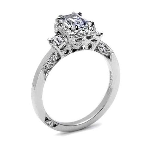 Tacori Dantela Platinum Engagement Ring 2621ECSM Alternative View 1