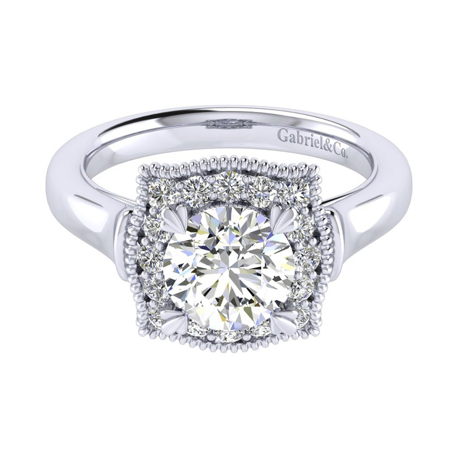 Gabriel 14 Karat Perfect Match Engagement Ring ER009C6AAW44JJ