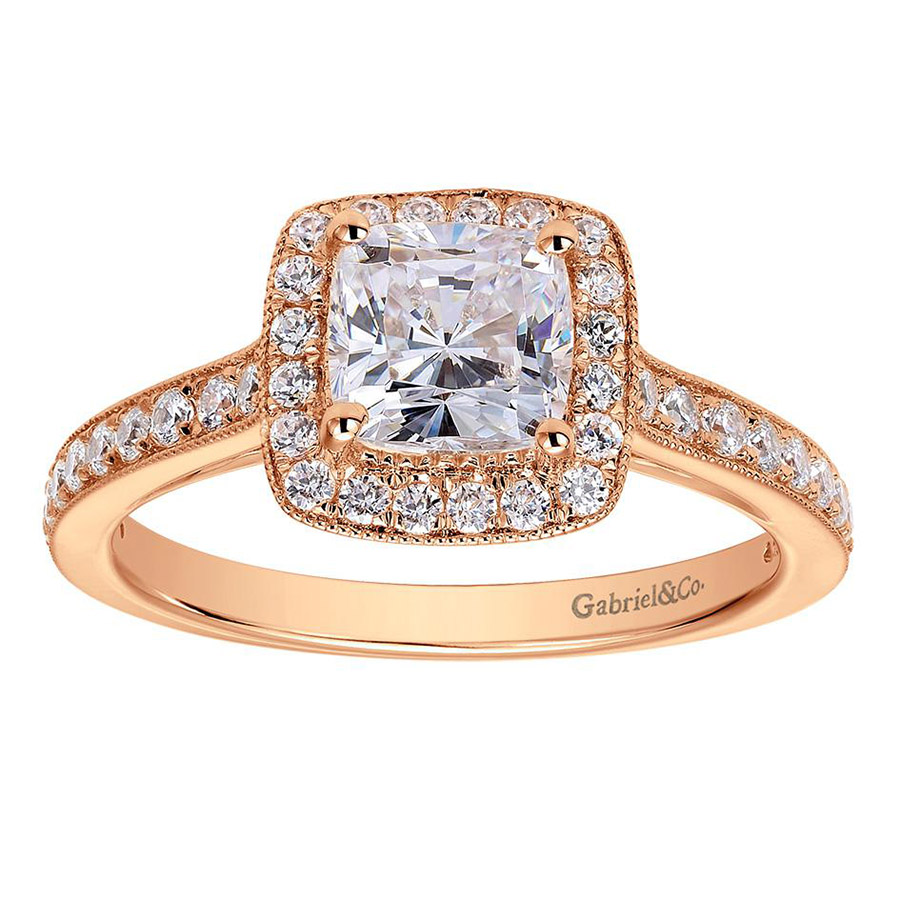 Gabriel 14 Karat Victorian Engagement Ring ER7527K44JJ Alternative View 4