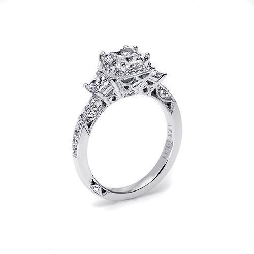 Tacori Platinum Dantela Engagement Ring 2622PRSMP Alternative View 1