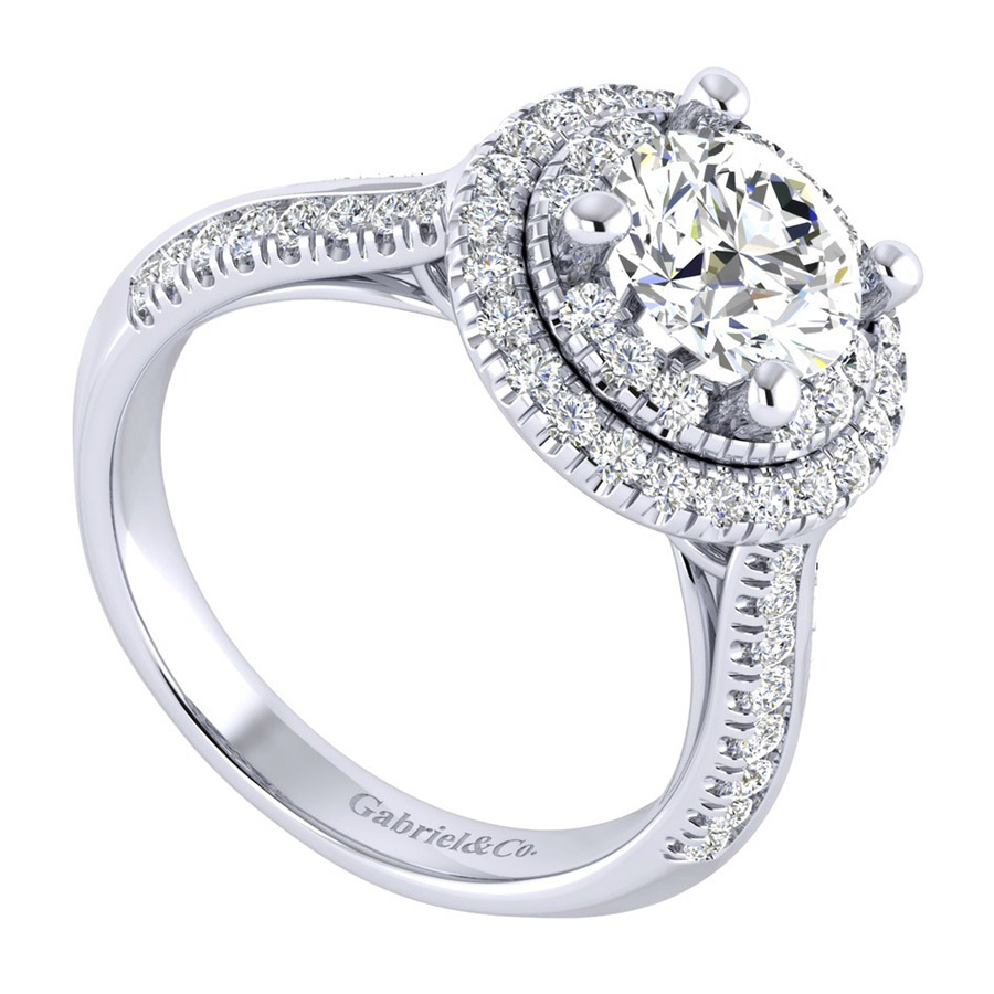 Gabriel 14 Karat Perfect Match Engagement Ring ER002C6AIW44JJ Alternative View 2