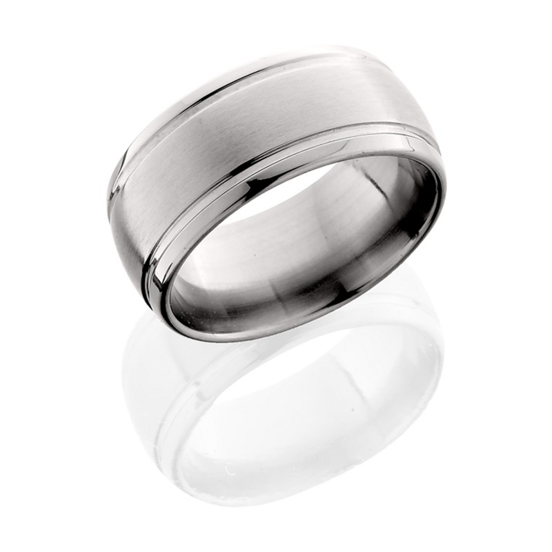 Lashbrook 10D21W SATIN-POLISH Titanium Wedding Ring or Band