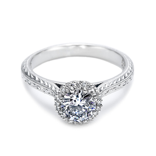 Tacori Platinum Solitaire Engagement Ring 2502RDE6