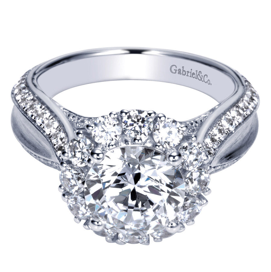 Gabriel 14 Karat Contemporary Engagement Ring ER8766W83JJ