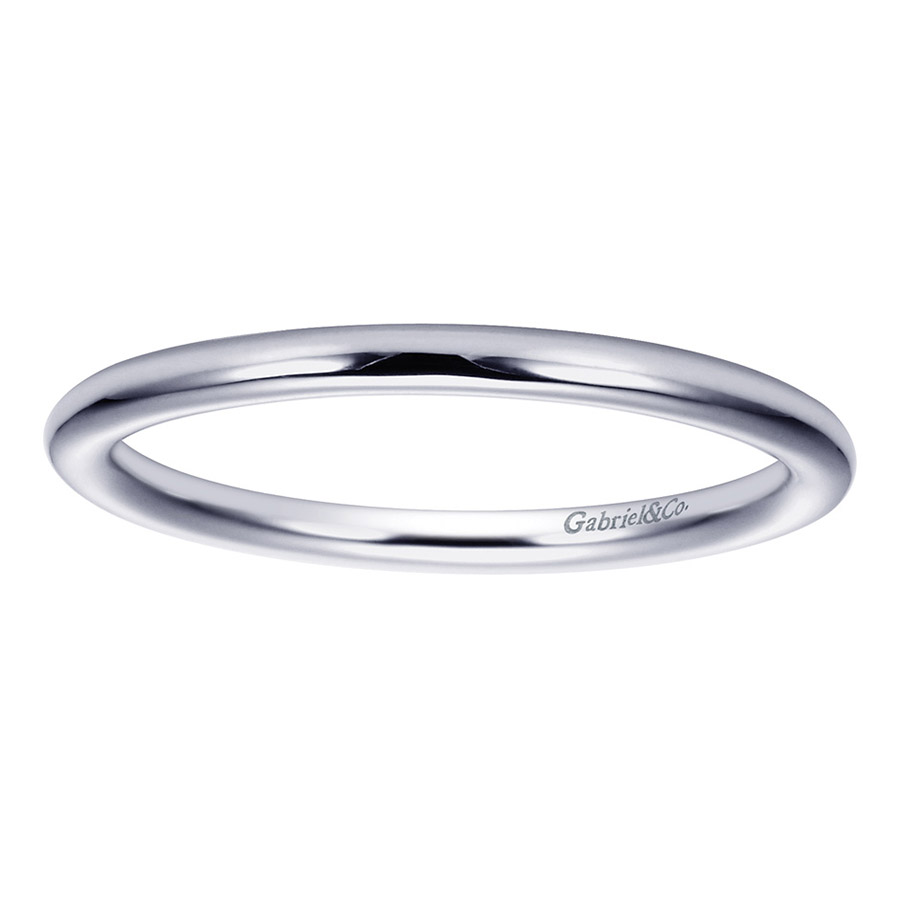 Gabriel Platinum Contemporary Wedding Band WB8289PTJJJ Alternative View 4