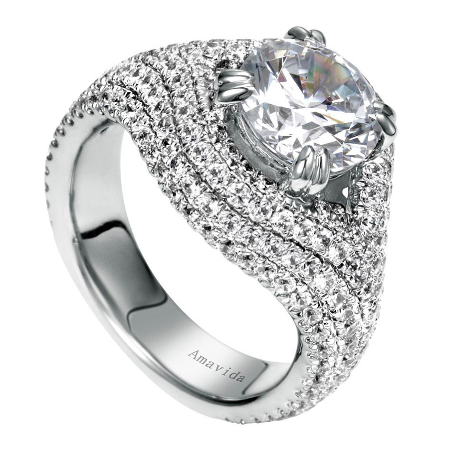 Gabriel 18 Karat Contemporary Engagement Ring ER8339W83JJ Alternative View 2