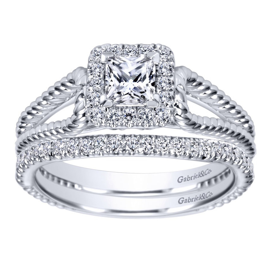 Gabriel 14 Karat Contemporary Engagement Ring ER98562W44JJ Alternative View 3