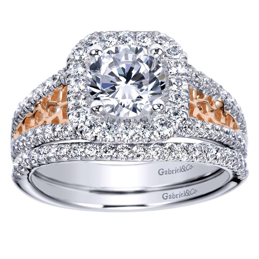 Gabriel 14 Karat Contemporary Engagement Ring ER9035T44JJ Alternative View 3