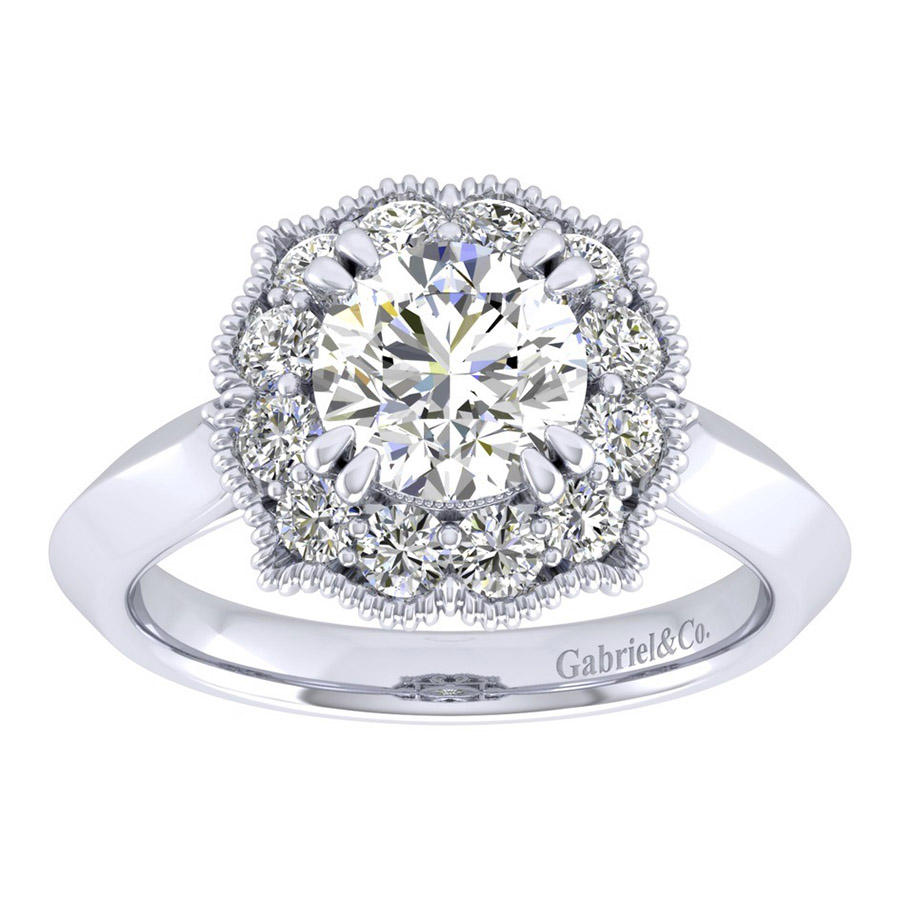 Gabriel 14 Karat Perfect Match Engagement Ring ER001C6ACW44JJ Alternative View 4