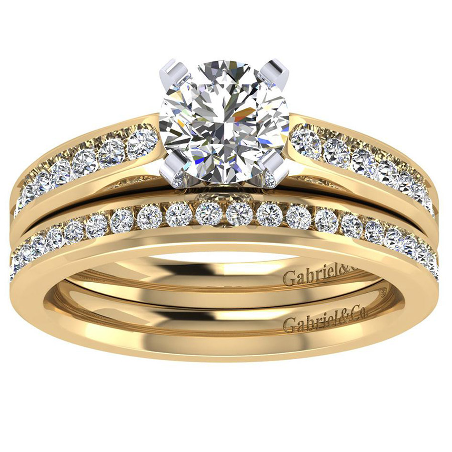 Gabriel 14 Karat Contemporary Wedding Band WB8195Y44JJ Alternative View 3