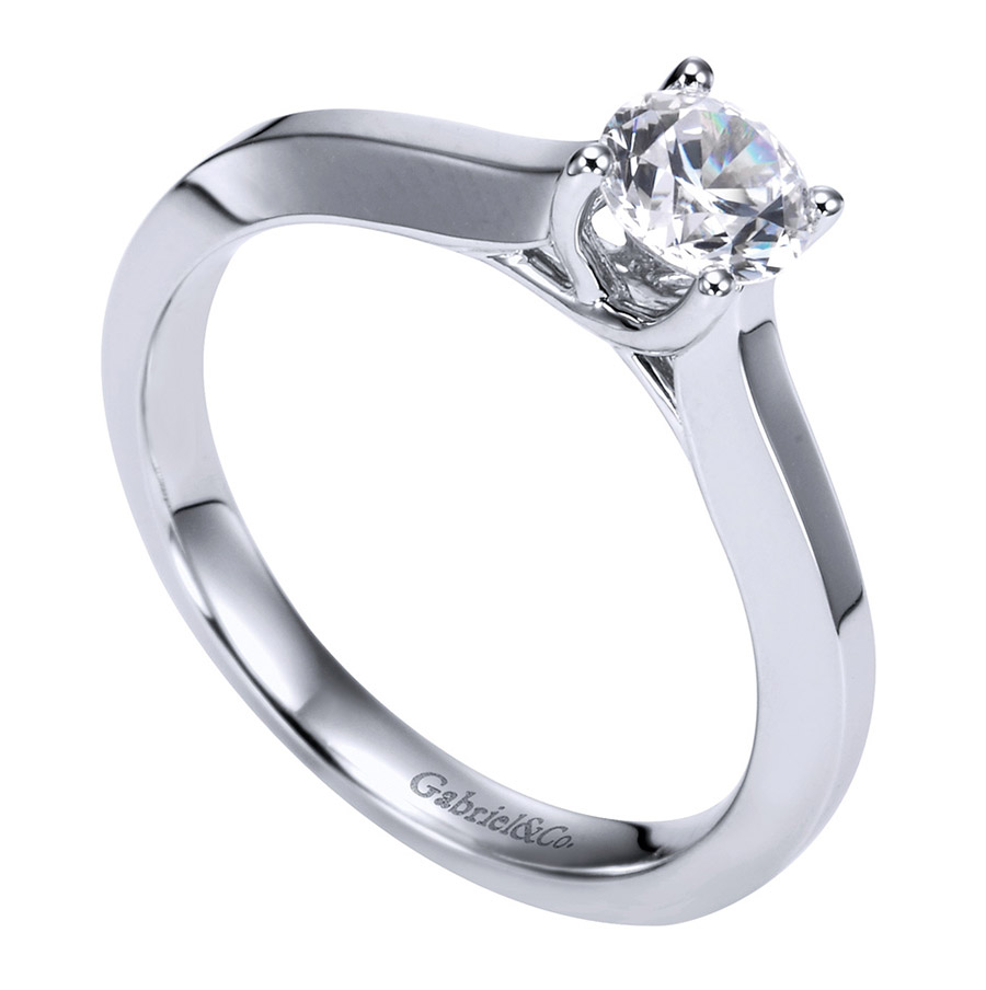 Gabriel Platinum Contemporary Engagement Ring ER6609PTJJJ Alternative View 2