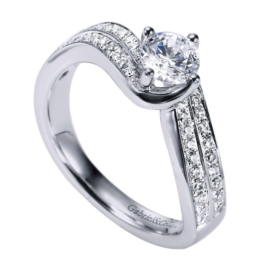 Gabriel 14 Karat Contemporary Engagement Ring ER96294W44JJ Alternative View 2