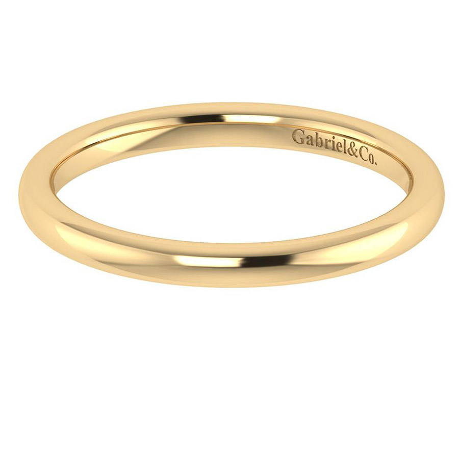 Gabriel 14 Karat Contemporary Wedding Band WB7490Y4JJJ