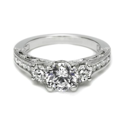 Tacori Crescent 18 Karat Engagement Ring HT25126512X Alternative View 2
