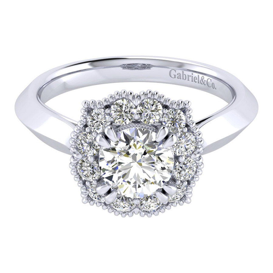 Gabriel 14 Karat Perfect Match Engagement Ring ER001B4ACW44JJ