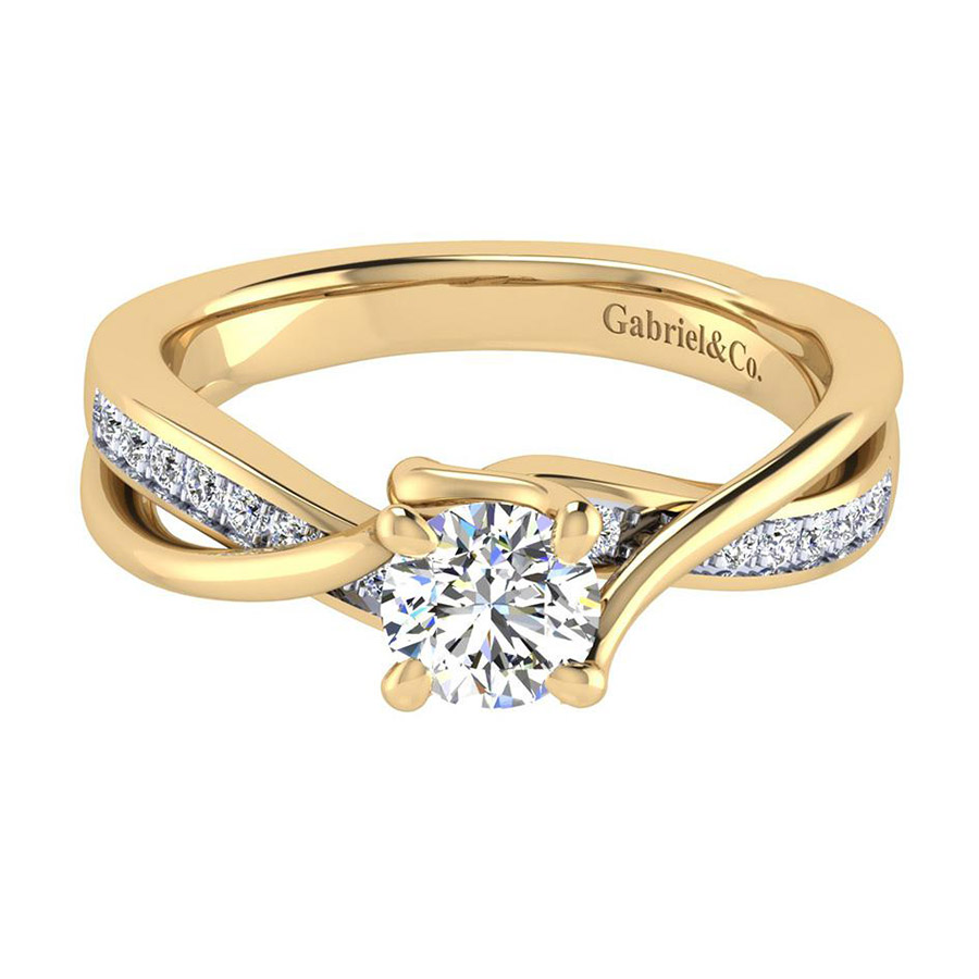 Gabriel 14 Karat Contemporary Engagement Ring ER6360Y44JJ