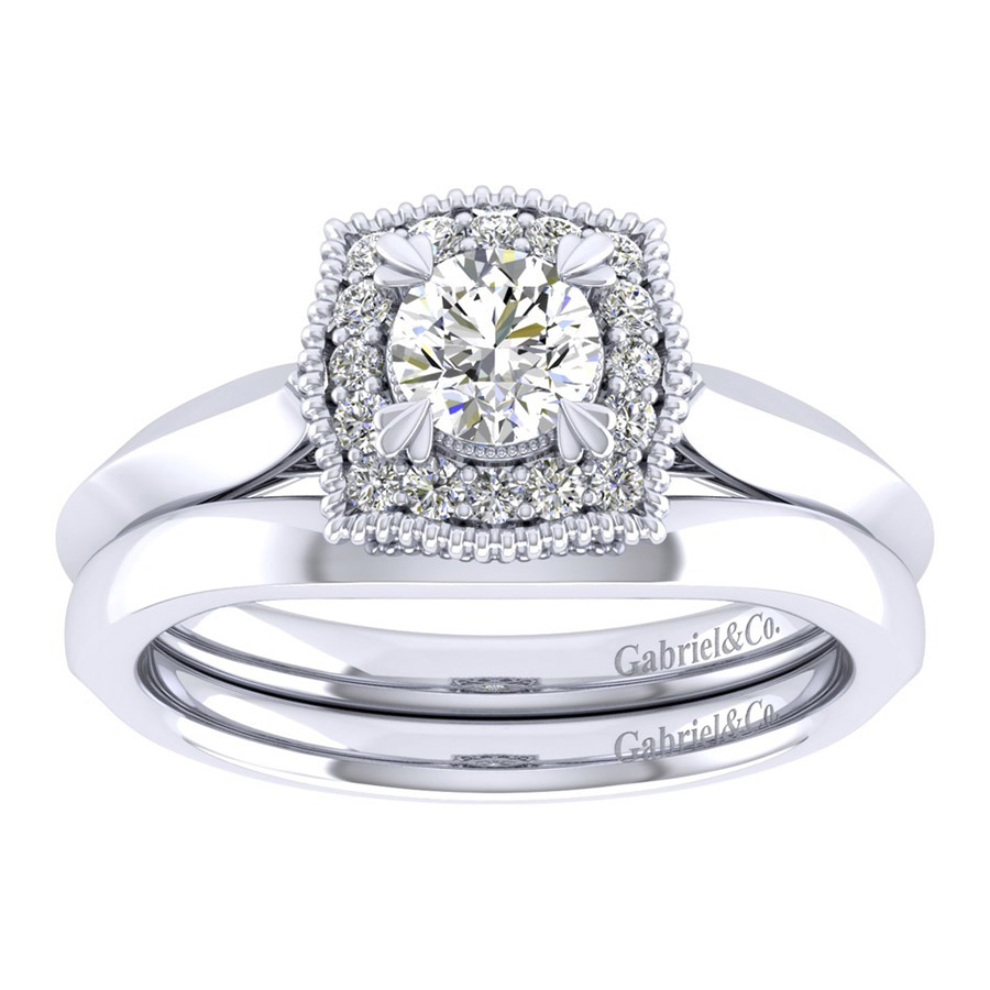 Gabriel 14 Karat Perfect Match Engagement Ring ER001A2AAW44JJ Alternative View 3