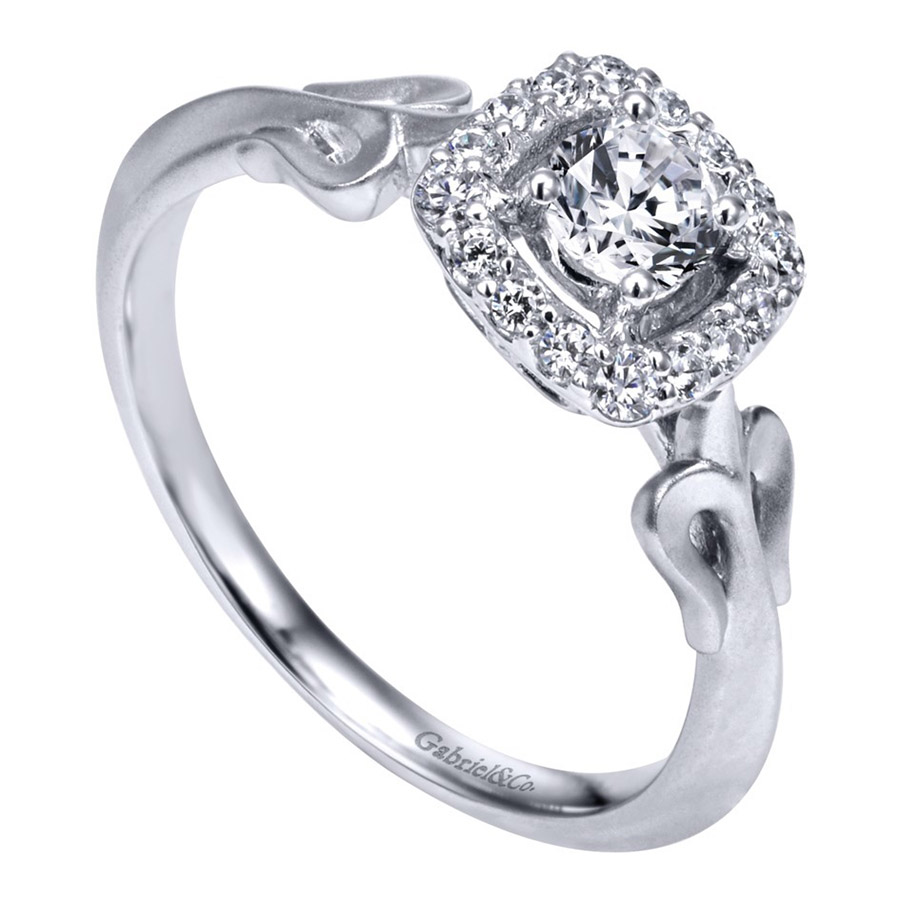 Gabriel 14 Karat Contemporary Engagement Ring ER911729R0W44JJ Alternative View 2