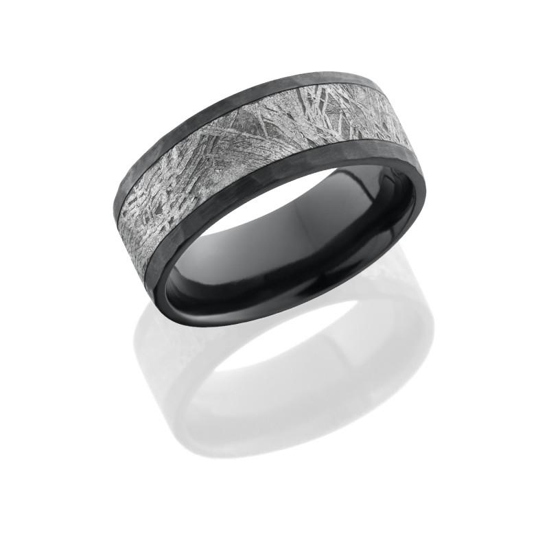 Lashbrook Z8F15METEORITE HAMMER Meteorite Wedding Ring or Band TQ