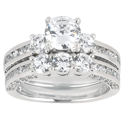 Taryn Collection Platinum Diamond Engagement Ring TQD A-1901