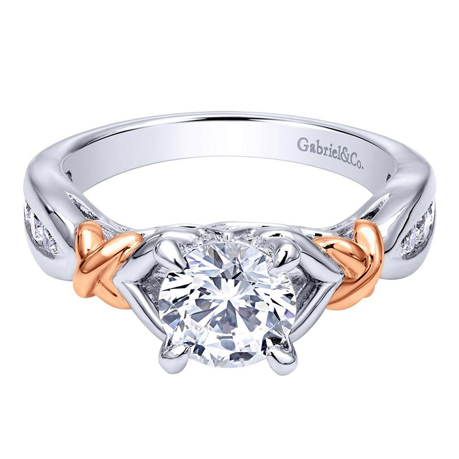 Gabriel 14 Karat Contemporary Engagement Ring ER10456T44JJ