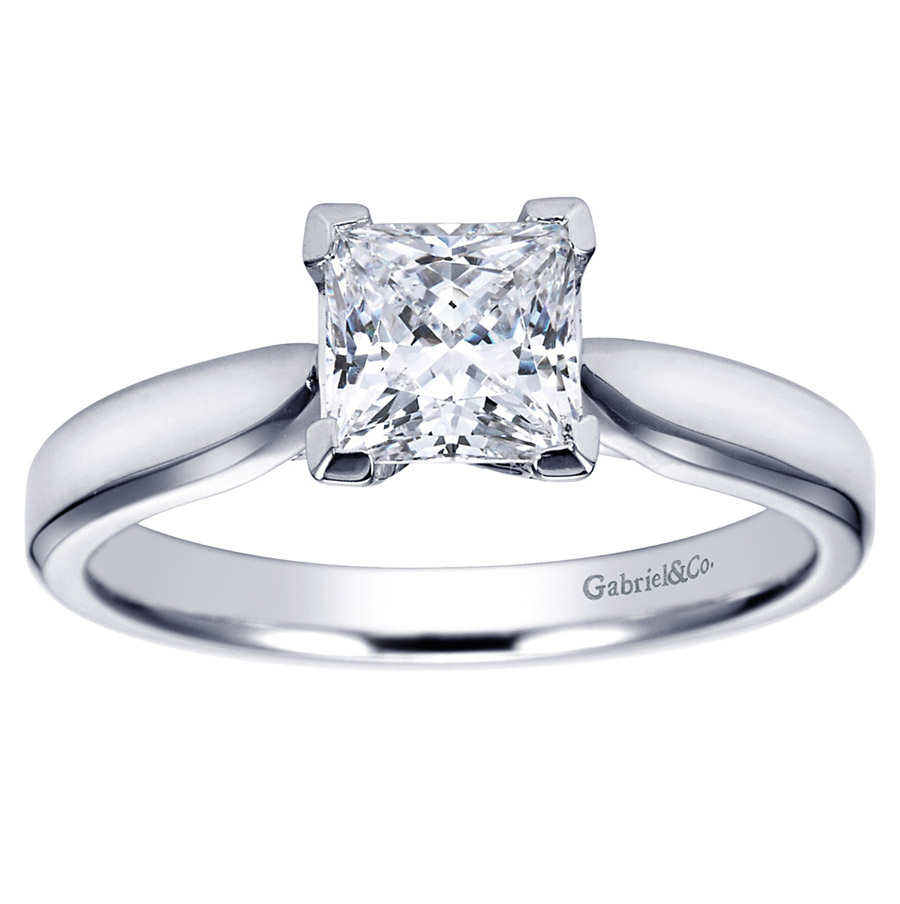 Gabriel Platinum Contemporary Engagement Ring ER6595PTJJJ Alternative View 4
