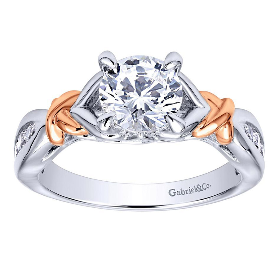Gabriel 14 Karat Contemporary Engagement Ring ER10456T44JJ Alternative View 4
