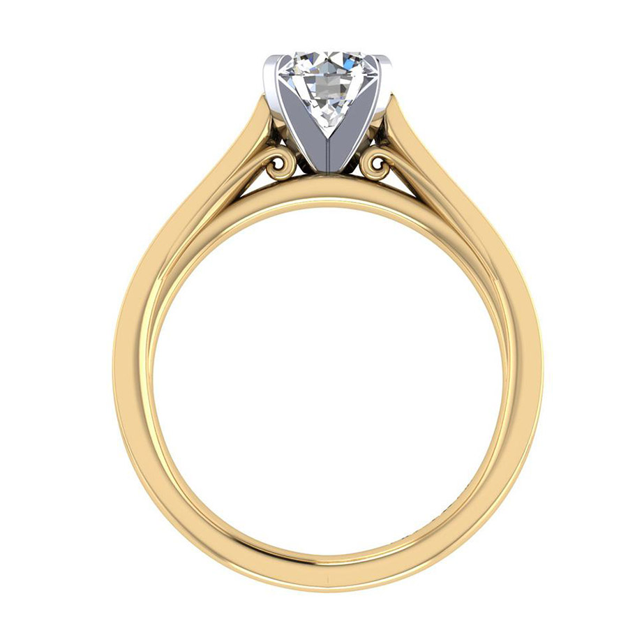 Gabriel 14 Karat Contemporary Engagement Ring ER8224M44JJ Alternative View 1