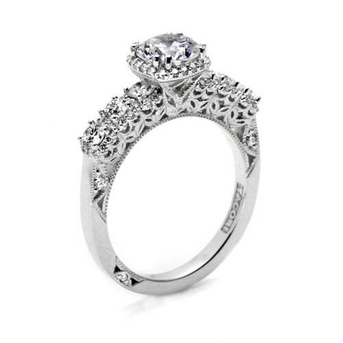 Tacori Dantela 18 Karat Engagement Ring 2629RD65 Alternative View 1