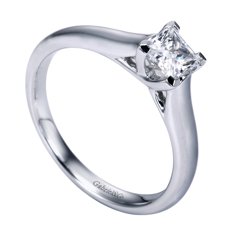 Gabriel Platinum Contemporary Engagement Ring ER6604PTJJJ Alternative View 2
