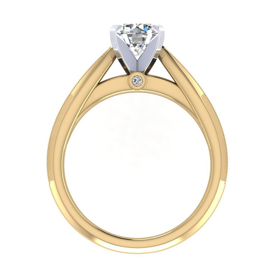 Gabriel 14 Karat Victorian Engagement Ring ER7535M44JJ Alternative View 1