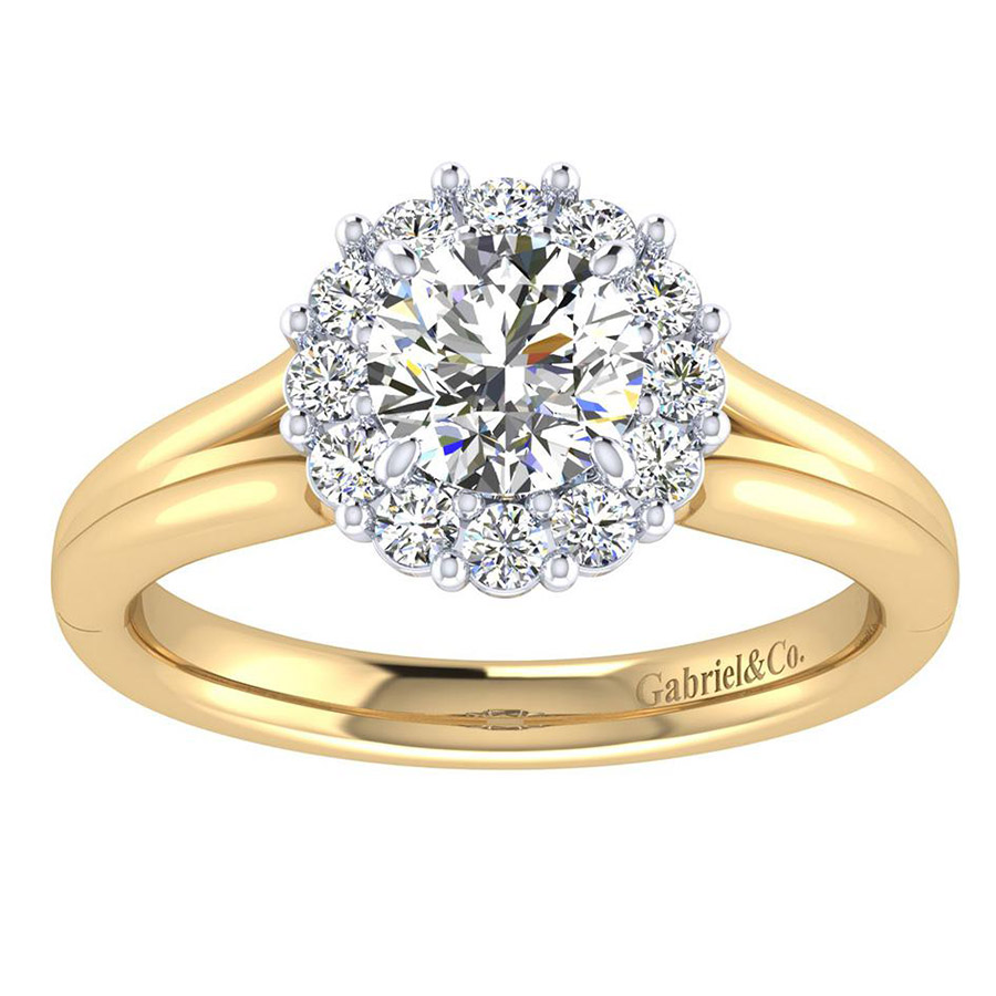 Gabriel 14 Karat Contemporary Engagement Ring ER6941M44JJ Alternative View 4