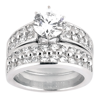 Taryn Collection Platinum Diamond Engagement Ring TQD A-424