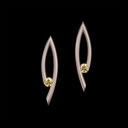 Kretchmer Platinum Drop Tension Set Earrings Alternative View 1