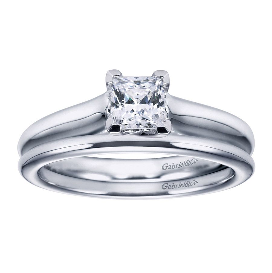 Gabriel Platinum Contemporary Engagement Ring ER6604PTJJJ Alternative View 3