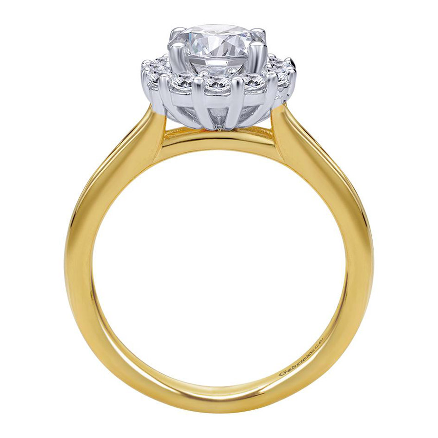 Gabriel 14 Karat Contemporary Engagement Ring ER6941M44JJ Alternative View 1