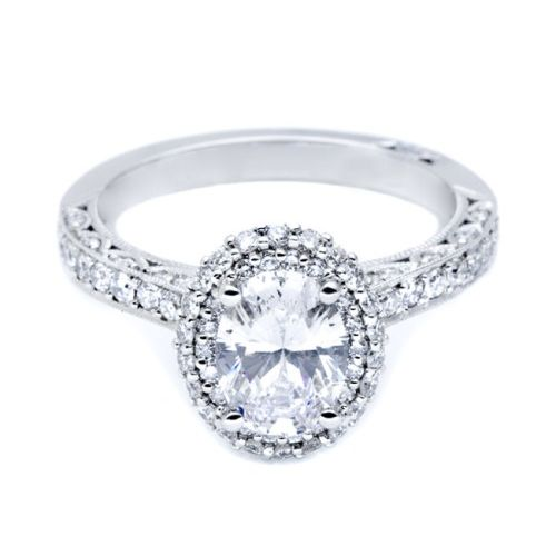 HT2522OV8X6 Tacori Crescent Platinum Engagement Ring Alternative View 2