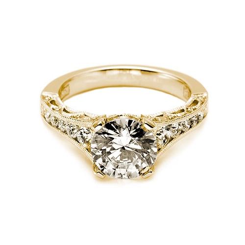 Tacori 18 Karat Crescent Engagement Ring HT X