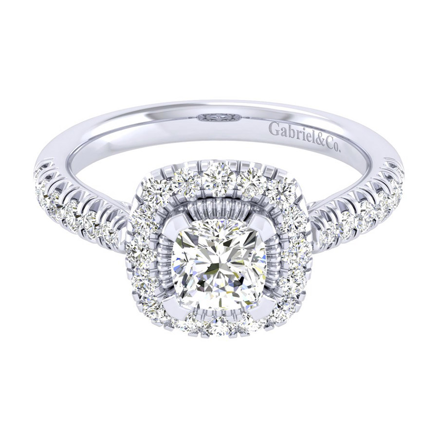 Gabriel 14 Karat Perfect Match Engagement Ring ER039B4AJW44JJ